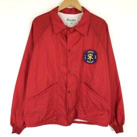 【古着】 Forrester's コーチジャケット made in USA 消防隊員 ワッペン付き ヴィンテージ レッド系 メンズL n015826