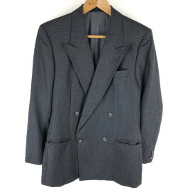 HUGO BOSS ヒューゴ・ボス テーラードジャケット ダブルブレスト Wジャケット ウール 起毛素材 グレー系 メンズXS n015947