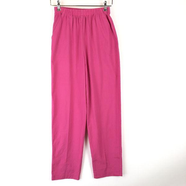 【古着】 Catalina イージーパンツmadeinUSA布帛素材 ピンク系 レディースS 【中古】 n016816