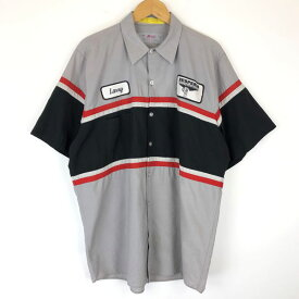 RED KAP レッドキャップ ワークシャツ 切り替え HESPERIA トランスミッション 半袖 グレー系 メンズL