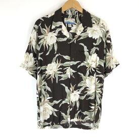 【古着】 TROPICALGROUP ハワイアンシャツ made in Bali 花 総柄 ブラウン系 メンズS 【中古】 n017817