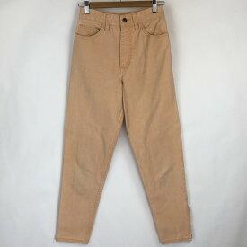 ゲス テーパードデニムパンツ made in USA カラーデニムパンツ 裾ジップ 90年代 ヴィンテージ オレンジ系 レディースW25