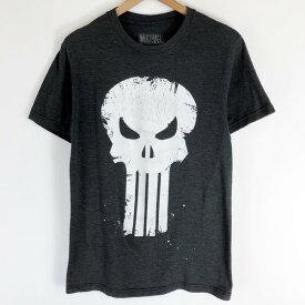 MARVEL マーベル キャラクタープリントTシャツ PUNISHER パニッシャー スカル グレー系 レディースS n019212