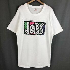 【古着】 ロゴプリントTシャツ JOBS イベントもの 90年代 ホワイト系 メンズXL 【中古】 n020030