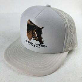 【古着】 COBRA CAPS メッシュキャップ KENTUCKY HORSE PARK 馬 ヴィンテージ ホワイト系 【中古】 n020933
