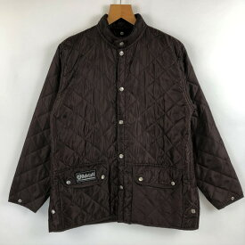 【古着】 Belstaff ベルスタッフ キルティングジャケット ライナージャケット 薄中綿 ブラウン系 メンズM n022397