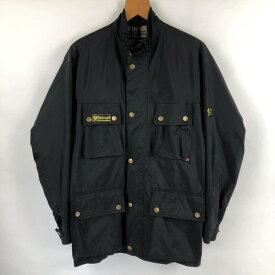 【古着】 Belstaff ベルスタッフ ナイロンジャケット 英国製 ブラック系 メンズS 【中古】 n022403