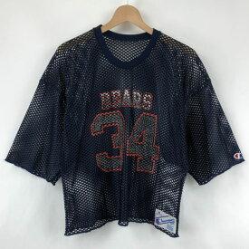 【古着】 Champion チャンピオン ホッケーシャツ メッシュトップス made in USA NFL シカゴベアーズ 80年代 ヴィンテージ ネイビー系 メンズM 【中古】 n024254