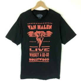 【古着】 VAN HALEN ヴァン・ヘイレン バンドプリントTシャツ WHISKEY A GO-GO ブラック系 メンズL 【中古】 n030238