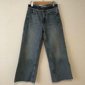 ZARA BASIC ザラベーシック デニム、ジーンズ パンツ Pants, Trousers Denim Pants, Jeans カットオフデニム【USED】【古着】【中古】10012954