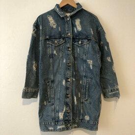 ZARA TRAFALUC ザラ ジャケット、ブレザー ジャケット、上着 Jacket オーバーサイズロングデニムジャケット【USED】【古着】【中古】10013216