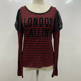 jouetie ジュエティ 長袖 カットソー Cut and Sewn ロンT ボーダー 長袖カットソー ロゴ【USED】【古着】【中古】10023023