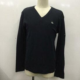BURBERRY BLACK LABEL バーバリーブラックレーベル Tシャツ Tシャツ 長袖 ロンT 無地 Vネック ロゴマーク 【USED】【古着】【中古】10026289