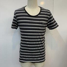 BURBERRY BLACK LABEL バーバリーブラックレーベル 半袖 Tシャツ T Shirt ボーダー ワンポイント【USED】【古着】【中古】10026292