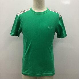 BURBERRY BLACK LABEL バーバリーブラックレーベル Tシャツ Tシャツ 半袖 ロゴマーク 無地 肩チェック 【USED】【古着】【中古】10027072【rss200315】