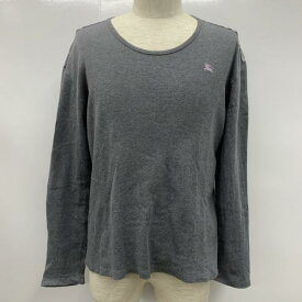 BURBERRY BLACK LABEL バーバリーブラックレーベル Tシャツ Tシャツ 長袖 ロンT ロゴマーク 肩チェック 無地【USED】【古着】【中古】10027328【rss200315】