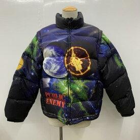 Supreme×UNDERCOVER シュプリーム×アンダーカバー ダウンジャケット ジャケット、上着 Jacket Public Enemy Puffy Jacket パブリックエネミー総柄ダウンジャケット【USED】【古着】【中古】10028747
