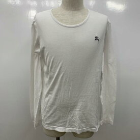 BURBERRY BLACK LABEL バーバリーブラックレーベル 長袖 Tシャツ T Shirt ロンT 無地 ワンポイント【USED】【古着】【中古】10030345【rss200310】