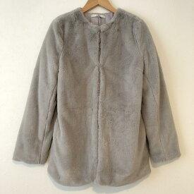 GRL グレイル 毛皮、ファー コート Coat ノーカラーコート フェイクファー【USED】【古着】【中古】10033187
