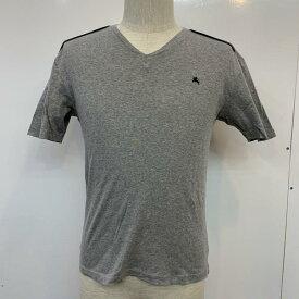 BURBERRY BLACK LABEL バーバリーブラックレーベル 半袖 Tシャツ T Shirt 無地 Vネック ワンポイント【USED】【古着】【中古】10037176