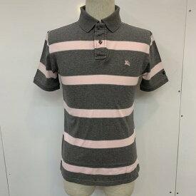 BURBERRY BLACK LABEL バーバリーブラックレーベル 半袖 ポロシャツ Polo Shirt ボーダー ワンポイント【USED】【古着】【中古】10037182