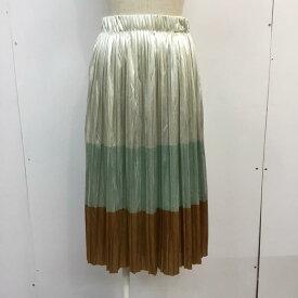 ZARA TRAFALUC ザラ ひざ丈スカート スカート Skirt Medium Skirt プリーツ メタリック【USED】【古着】【中古】10048504