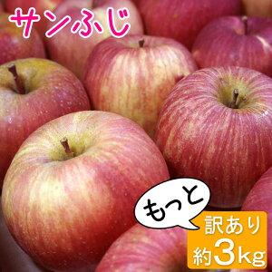 サンフジ等級C(加工用)3kg9〜15玉/送料無料葉とらず味極みりんご減農薬長野県産産地直送