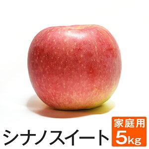ご予約受付中 訳あり シナノスイート 約5キロ 18〜25玉 等級B 家庭用 5kg 送料無料 葉とらず 味極み りんご 長野県産 産地直送