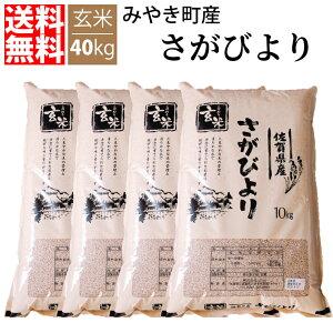 【送料無料】【令和元年新米/特A賞】 佐賀県産 さがびより 40kg 玄米
