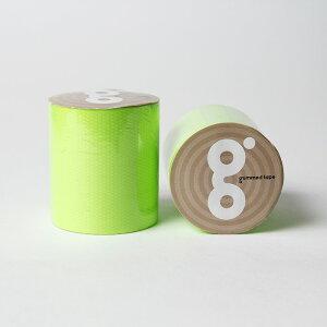 送料無料 ガムテ蛍光 グリーン 緑 50mm×5M  かわいい ガムテープ テープ ブラックライトに光る蛍光テープ ネオンカラー 蛍光塗料 3巻セット 推し色 推しカラー
