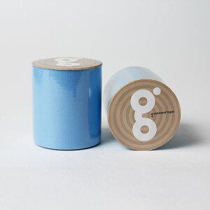 送料無料 蛍光 ブルー 50mm×5M 蛍光テープ 小巻 ブルー ガムテープ 水色 ブラックライトに光る ラッピング ネオン推し色 推しカラー