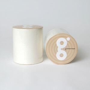 送料無料 ガムテープ 50mm 5M 白 カラー ホワイト テープ 補修 梱包