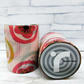送料無料 絵紋 かわいい 紋柄 着物 養生テープ かわいい 和柄 テープ 貼ってはがせる50mm 5M 養生テープ 2巻セット送料無料 ガラス飛散防止 台風 テープ