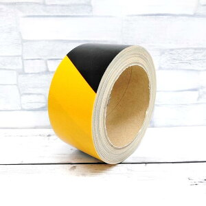 虎 テープ 安全表示 布テープ 50mm×10M デザイン ガムテープ トラ 布テープ 安い DIY