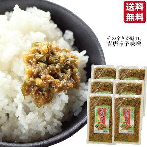 青唐辛子味噌250g×6袋 送料込みご飯のお供 青唐辛子みそ お取り寄せ おにぎり 少しのおかず ご飯あれば 喜ぶ 喜ばれる 送料無料