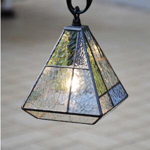 ステンドグラス ガーデンライト 吊下げ式 4K-10吊り金具付 ガーデンランプ ステンドグラスランプ 庭園灯 外灯 玄関灯 エクステリア 屋外照明 ガーデン照明 100V 照明器具 LED電球 対応 洋風 お
