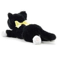 猫のぬいぐるみひざねこキティハチワレ(白黒猫/ネコ)[宅配便配送(メール便とネコポスは不可)]【お取り寄せ商品(通常3日程度)】