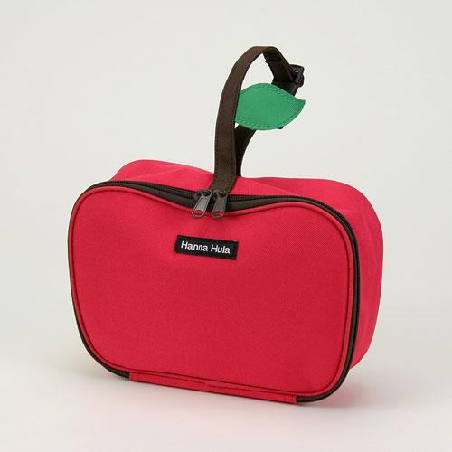 ハンナフラ(Hanna Hula) りんごオムツポーチ アップルレッド【ネコポスも可能】