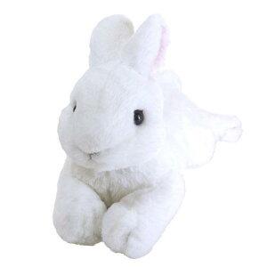 兎のぬいぐるみ ひざうさぎ ホワイト (ラビット/ウサギ)[宅配便配送(メール便とネコポスは不可)]【お取り寄せ商品】