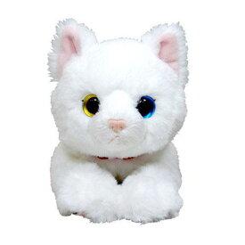 猫のぬいぐるみ ひざねこ S シロネコ (白猫/ネコ/オッドアイ)[宅配便配送(メール便とネコポスは不可)]