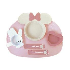 【Disney/ディズニー】ミニー アイコンランチプレート ピンク ベビー食器セット(電子レンジOK/食洗機・乾燥機OK)[宅配便配送(メール便とネコポスは不可)]