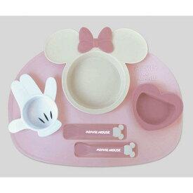 【Disney/ディズニー】ミニー アイコンランチプレート ピンク ベビー食器セット(電子レンジOK/食洗機・乾燥機OK)リニューアル(475-241)[宅配便配送(メール便とネコポスは不可)]