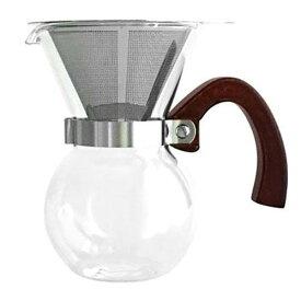 63 COFFEEMAKER doublewall stainless steal filter(コーヒーメーカー/ステンレスダブルフィルター/二重構造/紙フィルター不要)[宅配便配送(メール便とネコポスは不可)]【お取り寄せ商品(通常3日程度)】