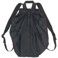 【マーナ】Shupattoシュパットコンパクトリュックブラック(折り畳みリュック/耐荷重:約10kg)【メール便も可能】