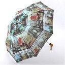 【名画シリーズ】2段 折傘 ジョーンズ フランス(絵画/雨傘/2段式折りたたみ傘/安全ハジキカバー付き)[宅配便配送(…