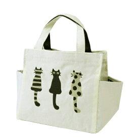 21ced23d051a ATSUKO MATANO(マタノアツコ)仲良し猫 刺繍マチ付トートバッグ オフホワイト【メール