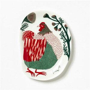 【モリタ ミウ/morita MIW】小皿 裏庭の草むらの鶏[宅配便配送(メール便とネコポスは不可)] 【お取り寄せ商品】