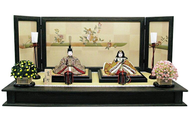 【ひな人形】【木目込親王飾】木目込人形:室町雛:草園作【雛人形】