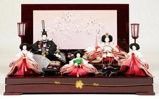 【雛人形五人飾】【雛人形】京十番親王六寸官女揃:桜蘭雛:伏見屋監修【ひな人形】