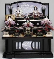 【送料手数料無料】【雛人形三段飾】京九番親王六寸官女揃:優美雛:平安翠泉作